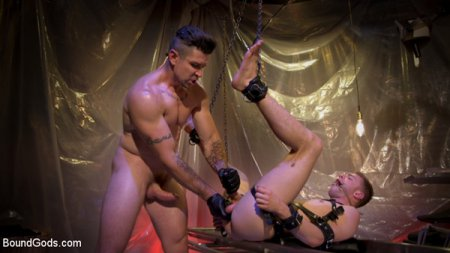 Download BoundGods - New boy Tom Bentley fucked by leather doctor Trenton Ducati 2018-06-14