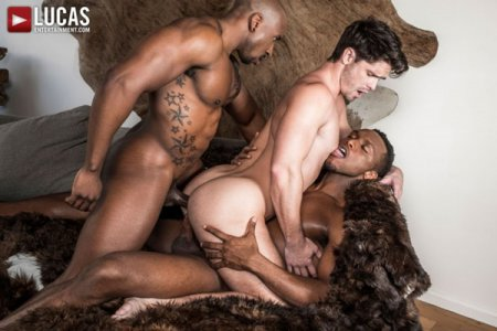 Poster Download LucasEntertainment - Hung Black Studs Andre Donovan and Max Konnor Spit Roast Devin Franco 2018-06-22