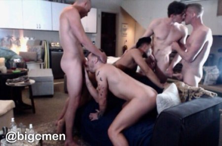 Poster Download OnlyFans - BigCMen - 5 Way With Jack Hunter, Josh Moore & Ricky Roman crazy orgy